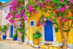 Street-in-Kefalonia,-Greece