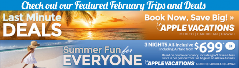 Find out the best new deals  and available trips!